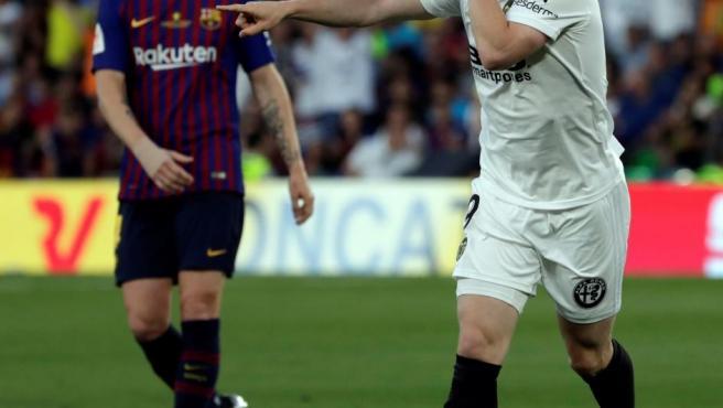 El francés Kevin Gameiro culminó un contraataque del Valencia para marcar el 0-1.