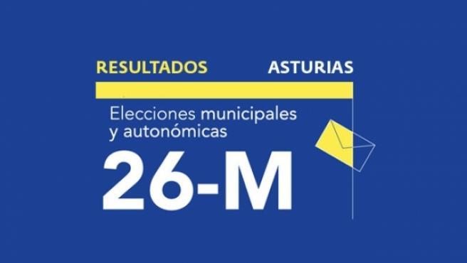 Resultados en Asturias de las elecciones autonómicas y municipales 2019.
