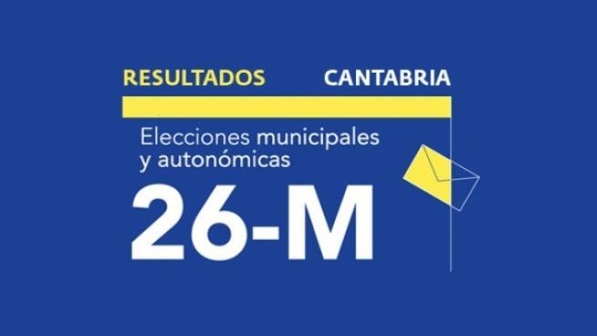 Resultados en Cantabria de las elecciones autonómicas y municipales 2019.
