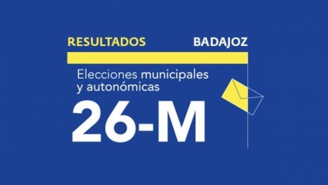 Resultados en Badajoz de las elecciones municipales 2019.