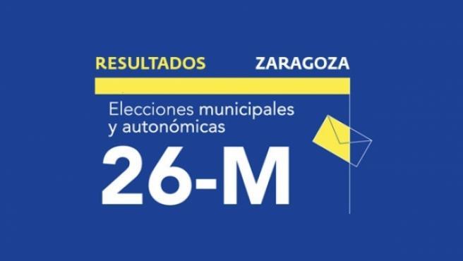 Resultados en Zaragoza de las elecciones municipales 2019.