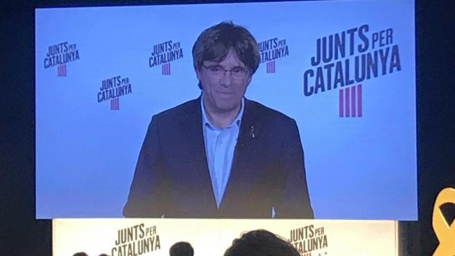 26M.- Puigdemont: 'En el Parlamento Europeo no podrá suspendernos ningún juez prevaricador'.