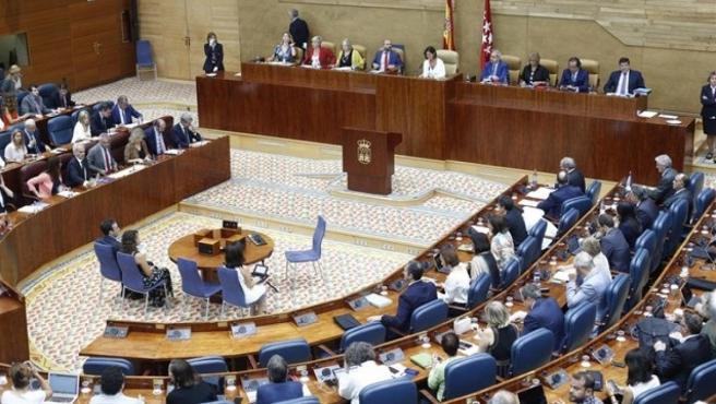 El Pleno de la Asamblea de Madrid, en una imagen de archivo.