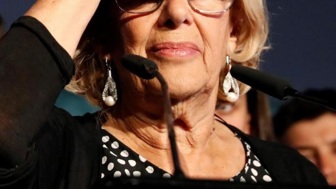 Manuela Carmena, tras las elecciones.