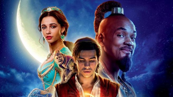 Detalle de uno de los pósters de 'Aladdin'