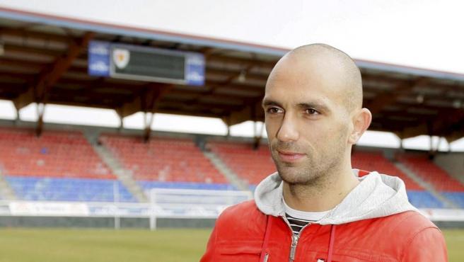 Raúl Bravo, cuando llegó cedido al Numancia en 2009.