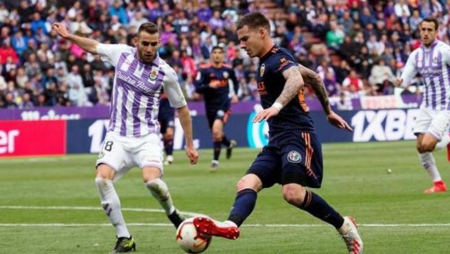 Partido entre Valladolid y Valencia de la última jornada de LaLiga 2018-19.