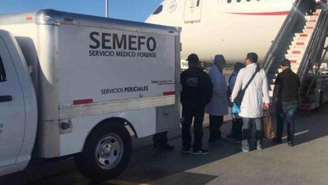 Avión que realizó el aterrizaje de emergencia en Hermosillo (México).