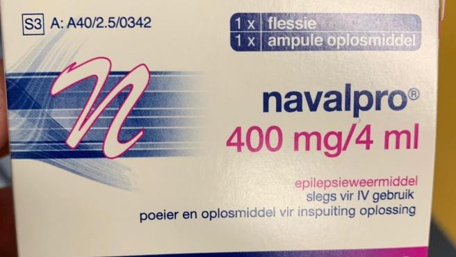 Medicamento distribuido en otro idioma por el Hospital de Getafe.