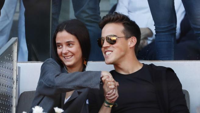 Victoria Federica de Borbón y Gonzalo Caballero cogidos de la manos durante el Masters Series Madrid 2019.