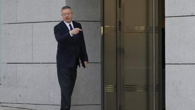 Gallardón acude a la Audiencia Nacional para declarar por la compra de Inassa.