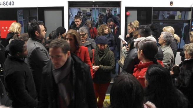 Huelga en el metro de Madrid.
