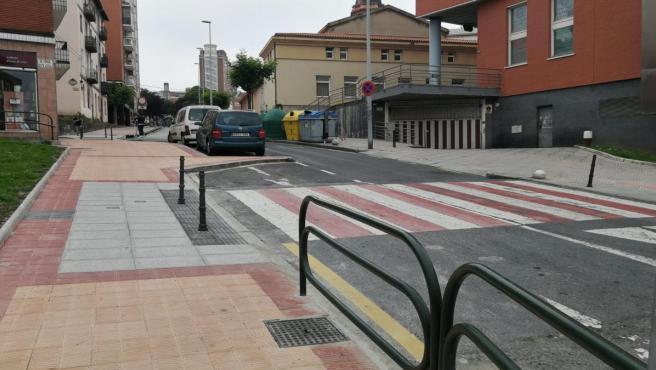 Calle renovada en Barakaldo