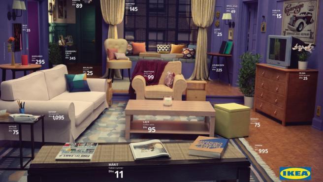 El salón de Mónica Geller recreado por Ikea.