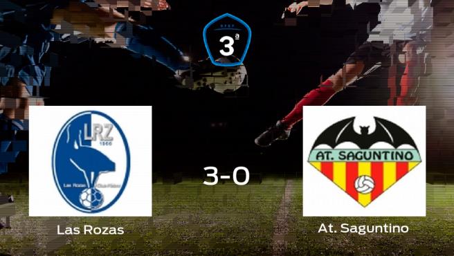 Las Rozas se clasifica para la siguiente ronda de los playoff tras ganar 3-0 contra el At. Saguntino