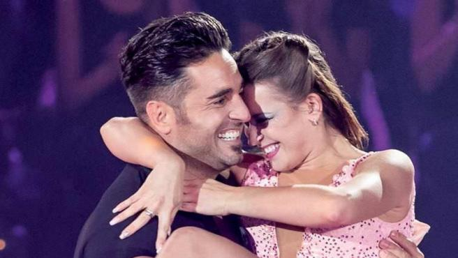 Yana Olina y David Bustamante en 'Bailando con las estrellas'.