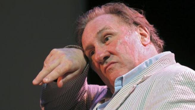El actor Gerard Depardieu en el Festival de Cine Ruso de Niza 2013.
