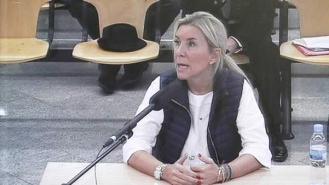 Isabel Jordán, acusada en el juicio a la Gürtel, en su declaración ante el tribunal de la Audiencia Nacional.