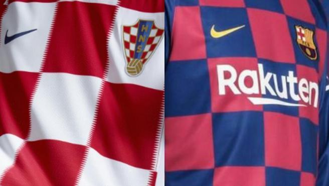 Las camisetas de Croacia y del Barça