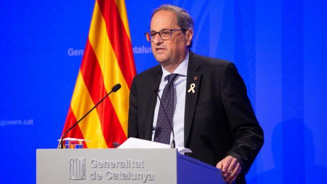 Torra reivindica haber reactivado Cataluña y la ve 'a punto para vivir en libertad'.