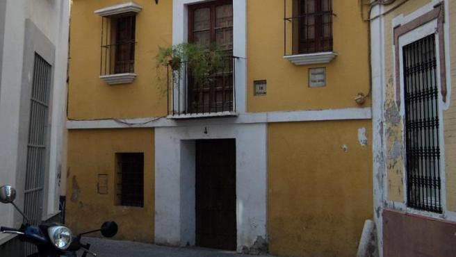 Fachada de la Casa Natal de Velázquez, en el centro de Sevilla.