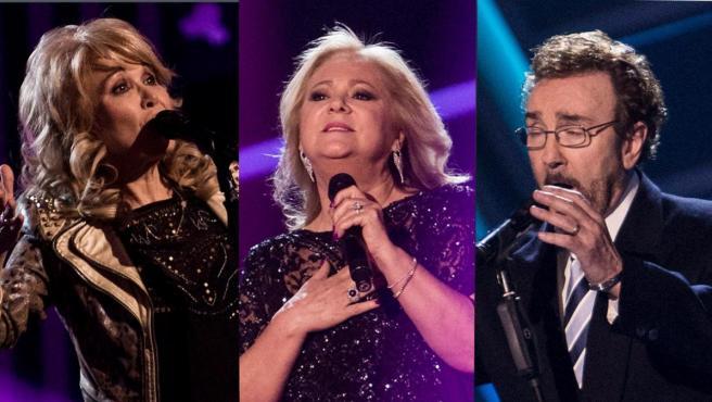 De izda. a dcha. Enriqueta, Helena, Blanca e Ignacio, finalistas de 'La voz senior'.