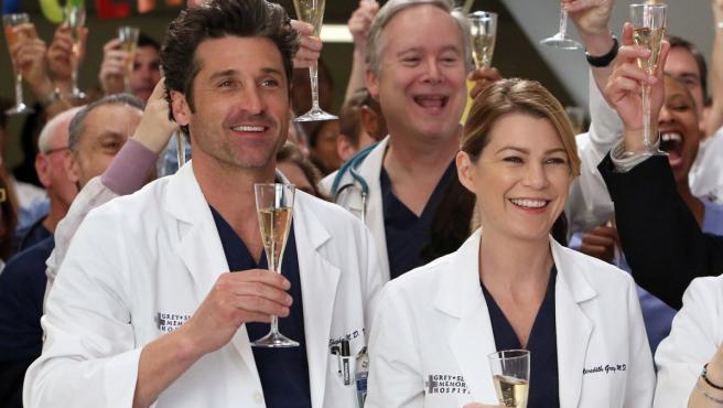 Patrick Dempsey y Ellen Pompeo en la serie 'Anatomía de Grey'.