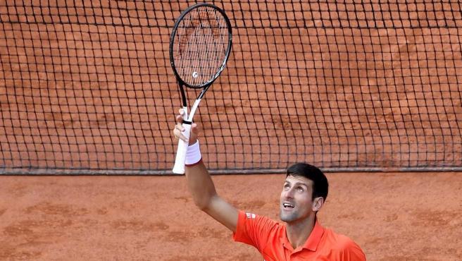 Novak Djokovic, en Roland Garros 2019.