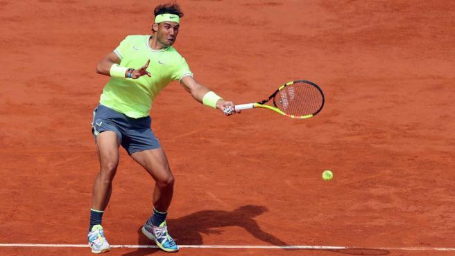 Rafael Nadal, en Roland Garros 2019.