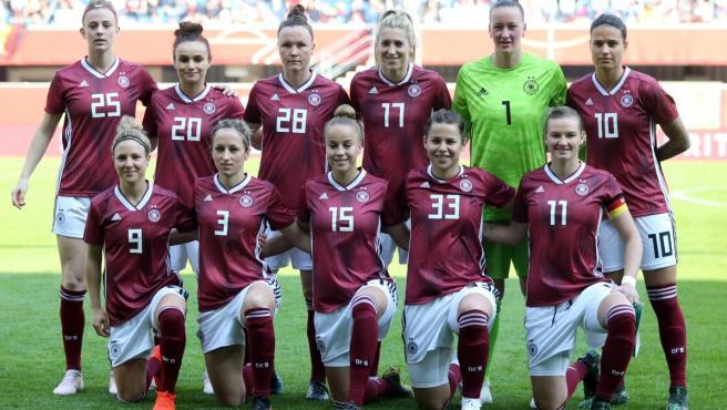 Selección alemana de fútbol femenino.