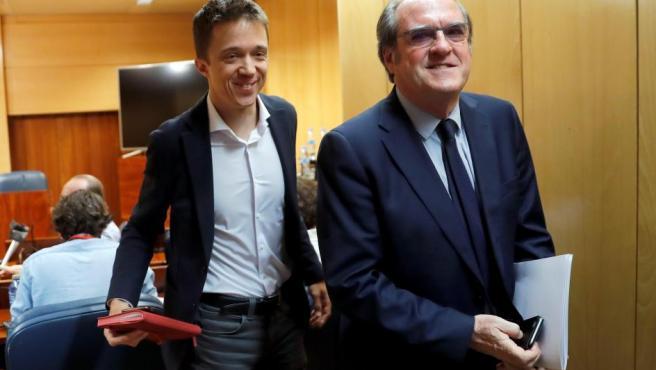 Ángel Gabilondo e Íñigo Errejón, en la Asamblea de Madrid.