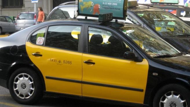 Un taxi en Barcelona, en una imagen de archivo.