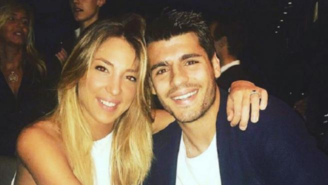 La modelo Alice Campello junto a su marido, el futbolista Álvaro Morata.