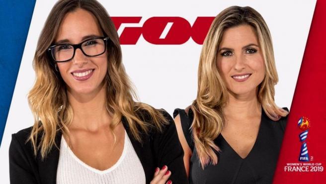 Sara Giménez y Danae Boronat comentan los partidos de España en el Mundial femenino de fútbol.