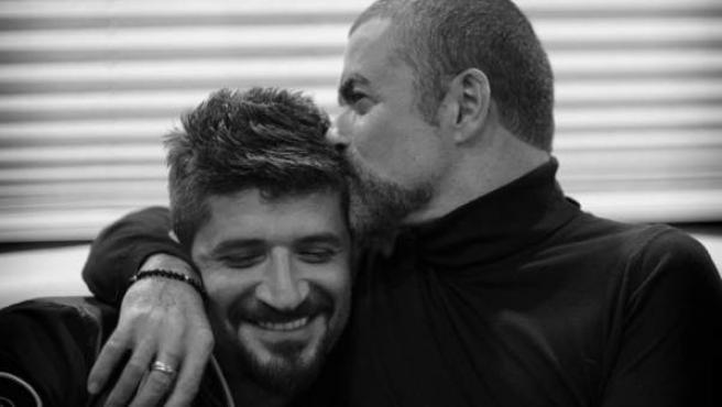 Una imagen de George Michael y su novio Fadi Fawaz.