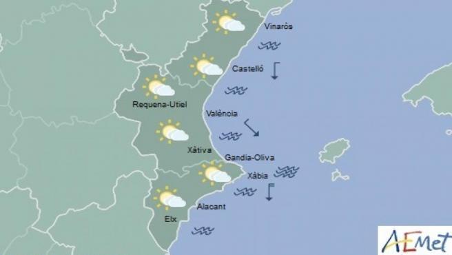 Las temperaturas se mantienen con pocos cambios en un domingo de nubes medias y altas