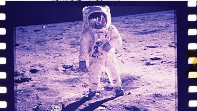 Una de las fotografías tomadas por los astrounautas de la misión Apolo XI.