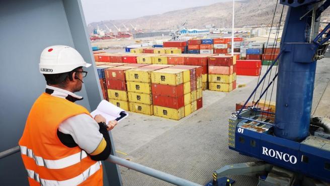 Almería.-Puertos.- La Autoridad Portuaria de Almería incrementa un 35,3% la exportación de mercancías hasta marzo