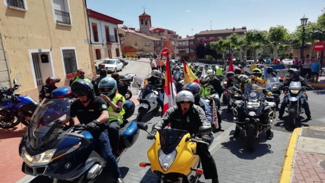 Más de 400 motoristas reivindican en Zaratán (Valladolid) el uso de la moto y mejoras para reducir siniestralidad