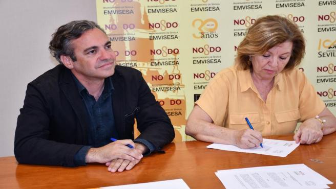 Sevilla.- Emvisesa suscribe un convenio para que personas con discapacidad intelectual realicen prácticas