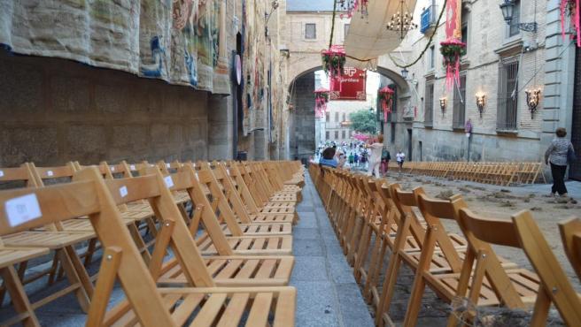 Este lunes salen a la venta en Internet y de manera presencial las 2.500 sillas para la procesión del Corpus de Toledo