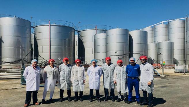 Córdoba.- CCOO visita las obras de los depósitos de aceite de Deóleo