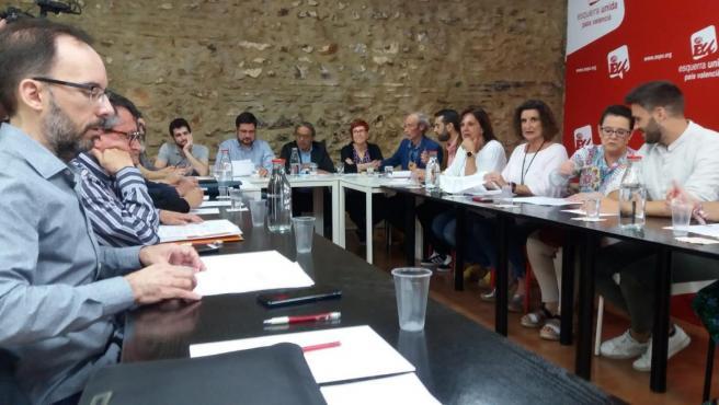 PSPV, Compromís y Podem esperan 'cerrar el qué y cómo lo más pronto posible' y 'avanzan' hacia un gobierno 'proporcional