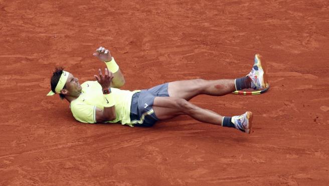 Rafa Nadal celebra su duodécima victoria en Roland Garros.