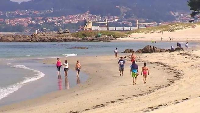 Imagen de una playa de Vigo.