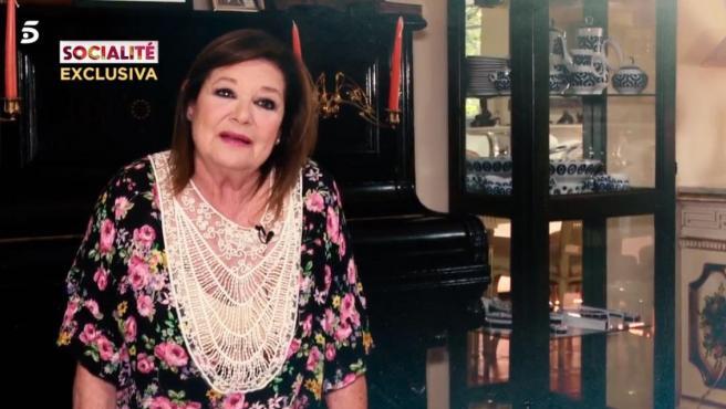 Teresa Rabal, entrevistada por el programa 'Socialité'.
