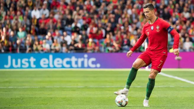 Cristiano Ronaldo, en un partido con Portugal durante la UEFA Nations League.