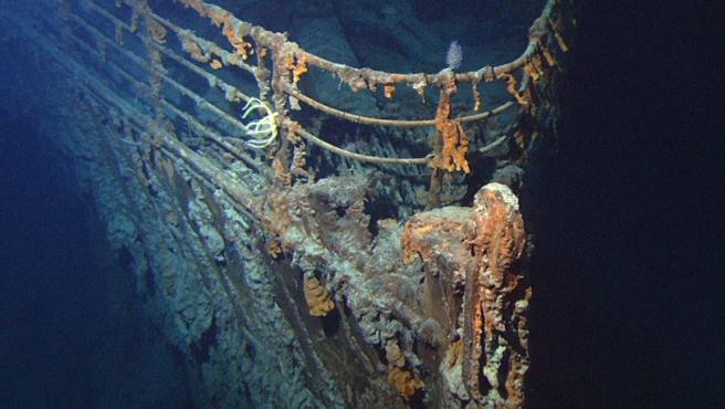 Los restos sumergidos de la proa del 'Titanic', fotografiados en 2004.