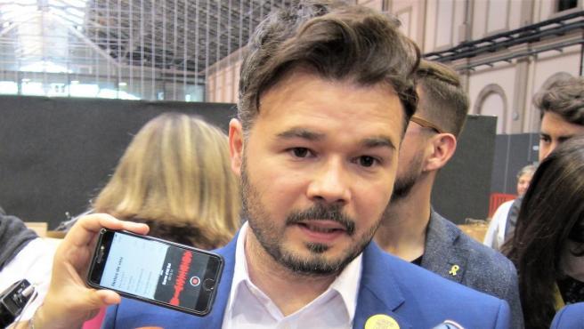 Gabriel Rufián, portavoz de ERC en el Congreso.