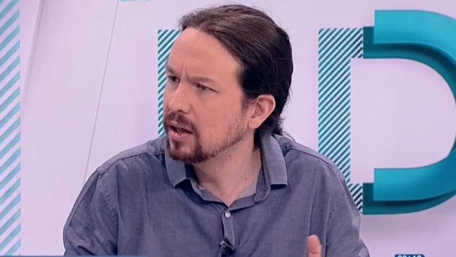 Pablo Iglesias, en 'Los desayunos de TVE'.